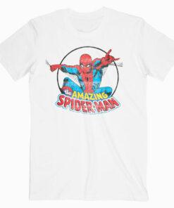 Marvel Amazing Spider Man Retro Vintage Graphic T Shirt