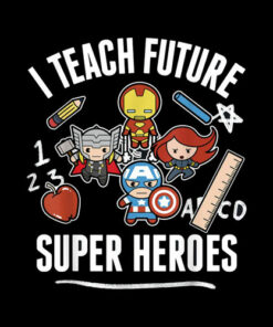 Marvel Avengers Classic I Teach Super Heroes Graphic T-Shirt