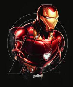 Marvel Avengers Endgame Iron Man Portrait Graphic T Shirt