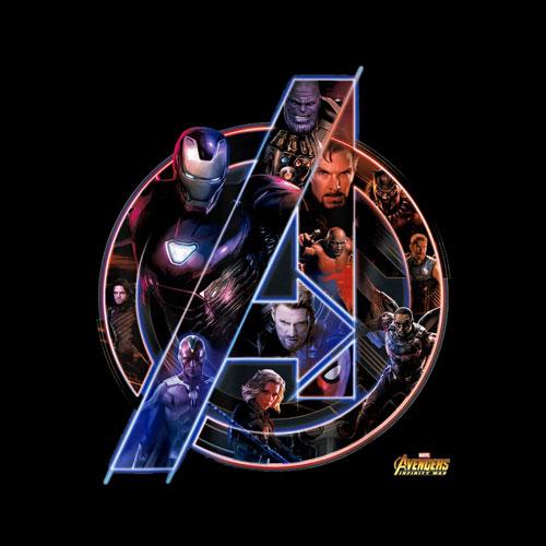 Marvel Avengers Infinity War Neon Team Graphic T-Shirt