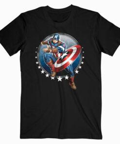 Marvel Captain America Shield Throw Stars Graphic T-Shirt