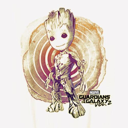 Marvel Guardians Vol 2 Groot Watercolor Swirl T Shirt