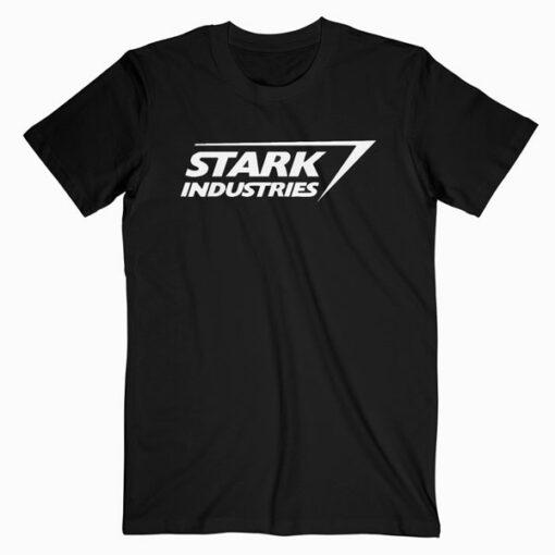 Marvel Iron Man Stark Industries Logo Graphic T Shirt