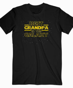Mens Best Grandpa in the Galaxy Birthday Gift for Grandpa T-Shirt