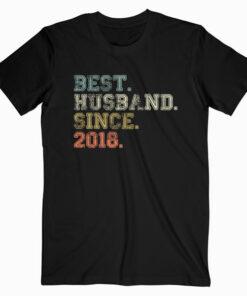 Mens Best Husband Since 2018 Epic Couple 2nd Wedding Anniversary T-Shirt