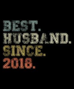 Mens Best Husband Since 2018 Epic Couple 2nd Wedding Anniversary T-Shirt