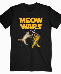 Meow Wars Funny Cat Lover Gift T-Shirt