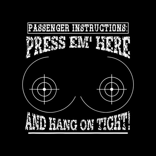 Motorcycle Shirt Passenger Instructions Press EM Here