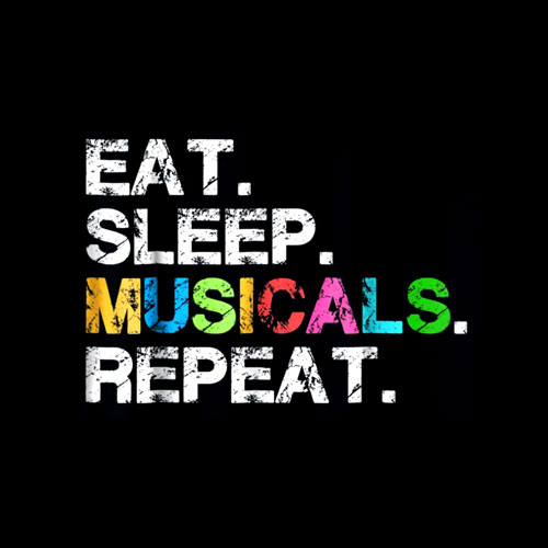 Musicals tshirt gift Funny theatre life drama theater tee