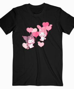 My Melody and Kuromi Valentine's Day Hearts Tee Shirt