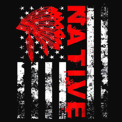 Native American Day Vintage Flag USA T Shirt