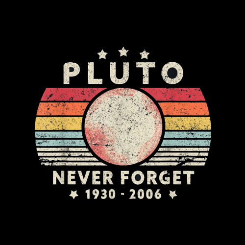 Never Forget Pluto Shirt Retro Style Funny Space Science T-Shirt