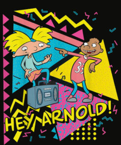 Nickelodeon Hey Arnold 90's Party Poster T Shirt