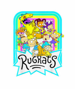 Nickelodeon Rugrats Neon Rainbow Reptar And Friends T Shirt