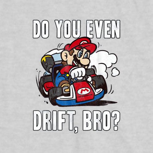 Nintendo Mario Kart Do You Even Drift Bro Graphic T-Shirt
