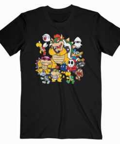 Nintendo Super Mario Bowser Enemy Group Graphic T Shirt