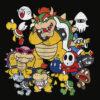 Nintendo Super Mario Bowser Enemy Group Graphic T Shirt
