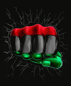 Pan African UNIA Flag Fist Shirt