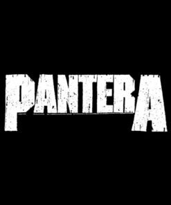 Pantera Official White Logo T-Shirt