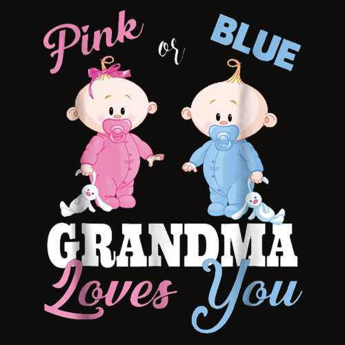 Pink or Blue Grandma Loves You Gender Reveal Shirts
