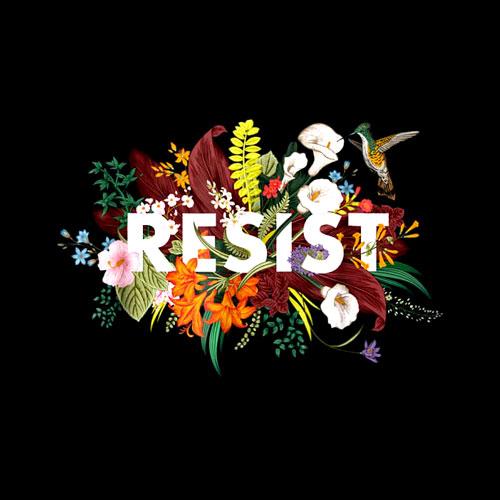 RESIST Floral Anti Trump Political Protest T-Shirt