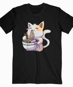 Ramen Cat Kawaii Anime Tee Japanese Gift T-Shirt