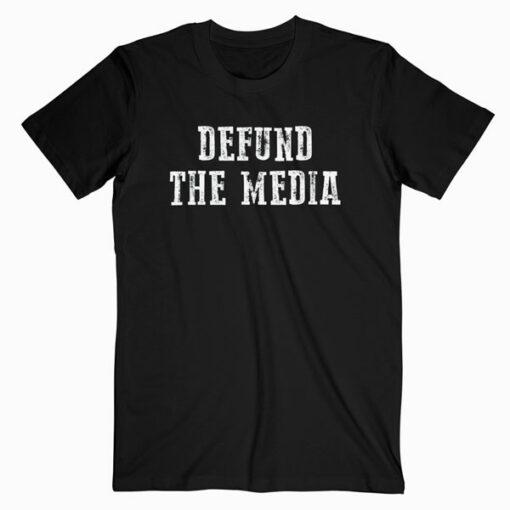 Retro Vintage Defund The Media T-Shirt