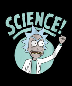 Rick and Morty Science Fist Punch T Shirt