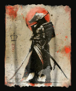 Samurai T Shirt Japanese Retro Art
