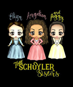 Schuyler Sisters Kawaii Art by Mary Layton Premium T-Shirt