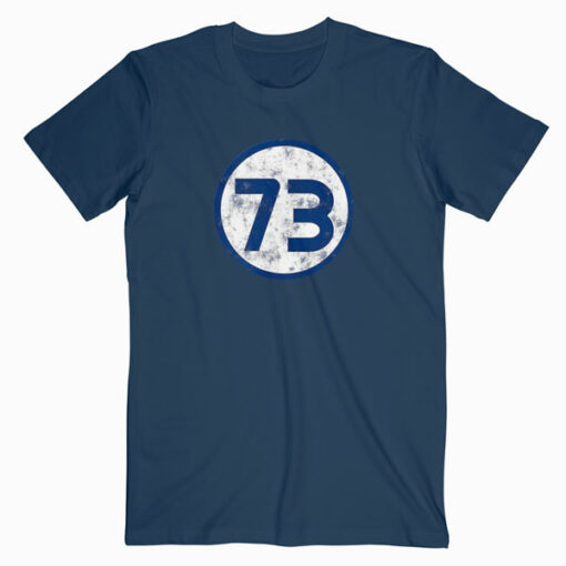 Sheldon Nerdy Number 73 Blue Circle T-Shirt