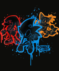 Sonic and Friends Spray Paint T Shirt