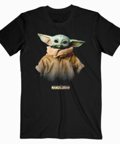 Star Wars The Mandalorian Logo The Child Simple Portrait T-Shirt