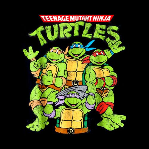 Teenage Mutant Ninja Turtles Classic Retro Logo Tee-Shirt