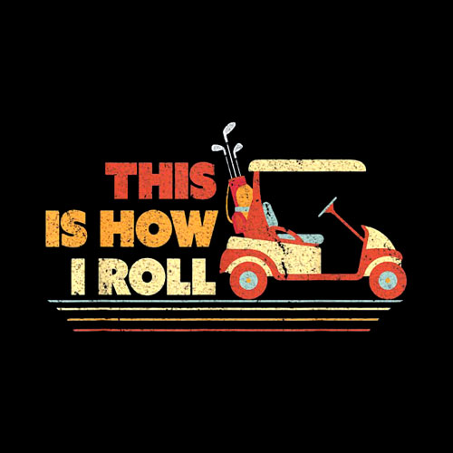 This Is How I Roll Shirt Gift For Dad Vintage Golf Cart T-Shirt