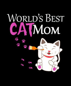 World's Best Cat Mom Cute Gift Lady T-Shirt