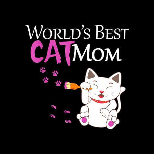 World's Best Cat Mom Cute Gift Lady T-Shirt