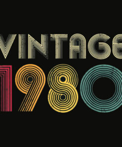 1980 40th Birthday Gift Vintage Retro Men Women 40 Years Old T Shirt