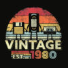 1980 Shirt Vintage 40th Birthday Gift Funny Music Tech T Shirt