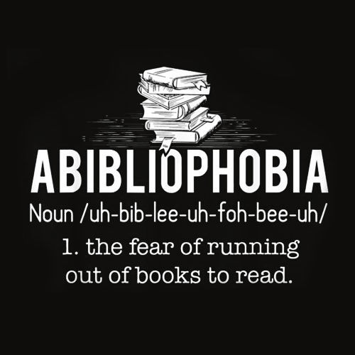 Abibliophobia Funny Reading Bookworm Reader Gift T Shirt
