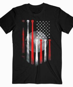 American Flag Vintage Baseball Flag T Shirt