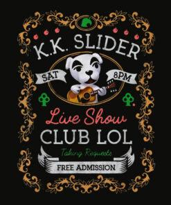 Animal Crossing KK Slider Live Show Poster Graphic T Shirt