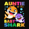 Aunt Of The Baby Shark Birthday Aunt Shark Shirt T Shirt
