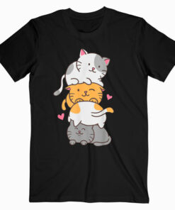 Cat Cats Meowtain Cute Kitty Pile Anime Kawaii Neko Gift T Shirt