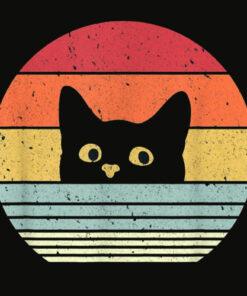 Cat Shirt Retro Style T Shirt