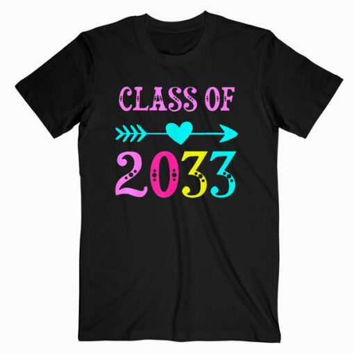 Class Of 2033 Grow With Me T Shirt For Teachers Students