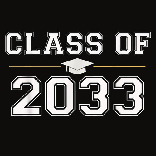 Class of 2033 Grow With Me School First Day T Shirt