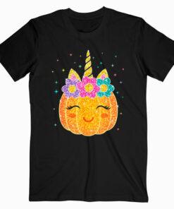Cute Unicorn Pumpkin Halloween Thanksgiving T Shirt