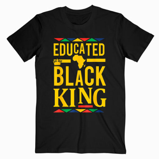 Dashiki Educated Black KING Shirt African DNA Pride Shirt T Shirt