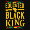 Dashiki Educated Black KING Shirt African DNA Pride Shirt T Shirt